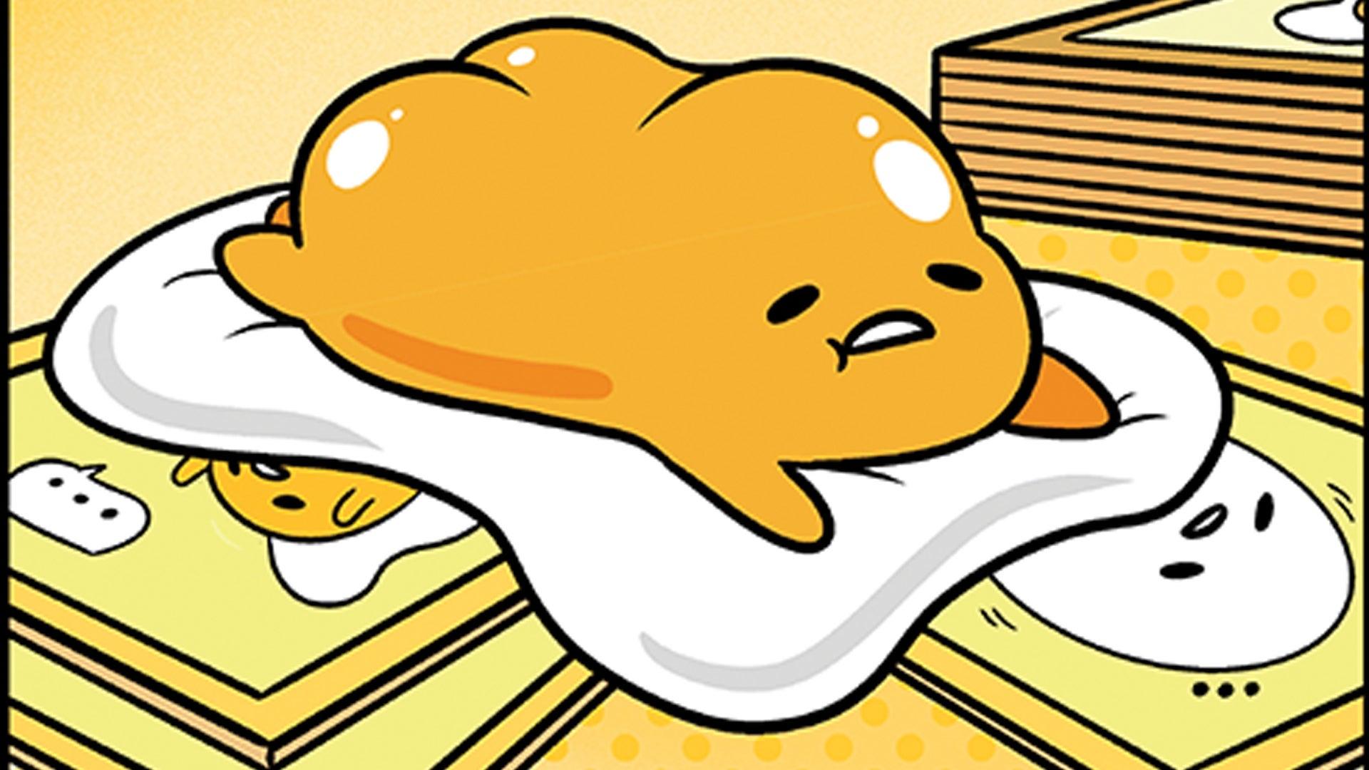 Gudetama: The Tricky Egg Card Game board game artwork