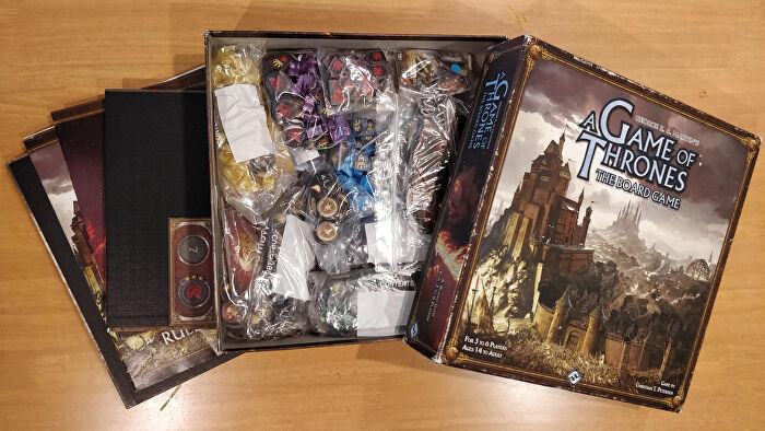 Game of Thrones board game with baggies