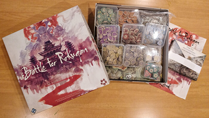 Battle for Rokugan board game with box organisers