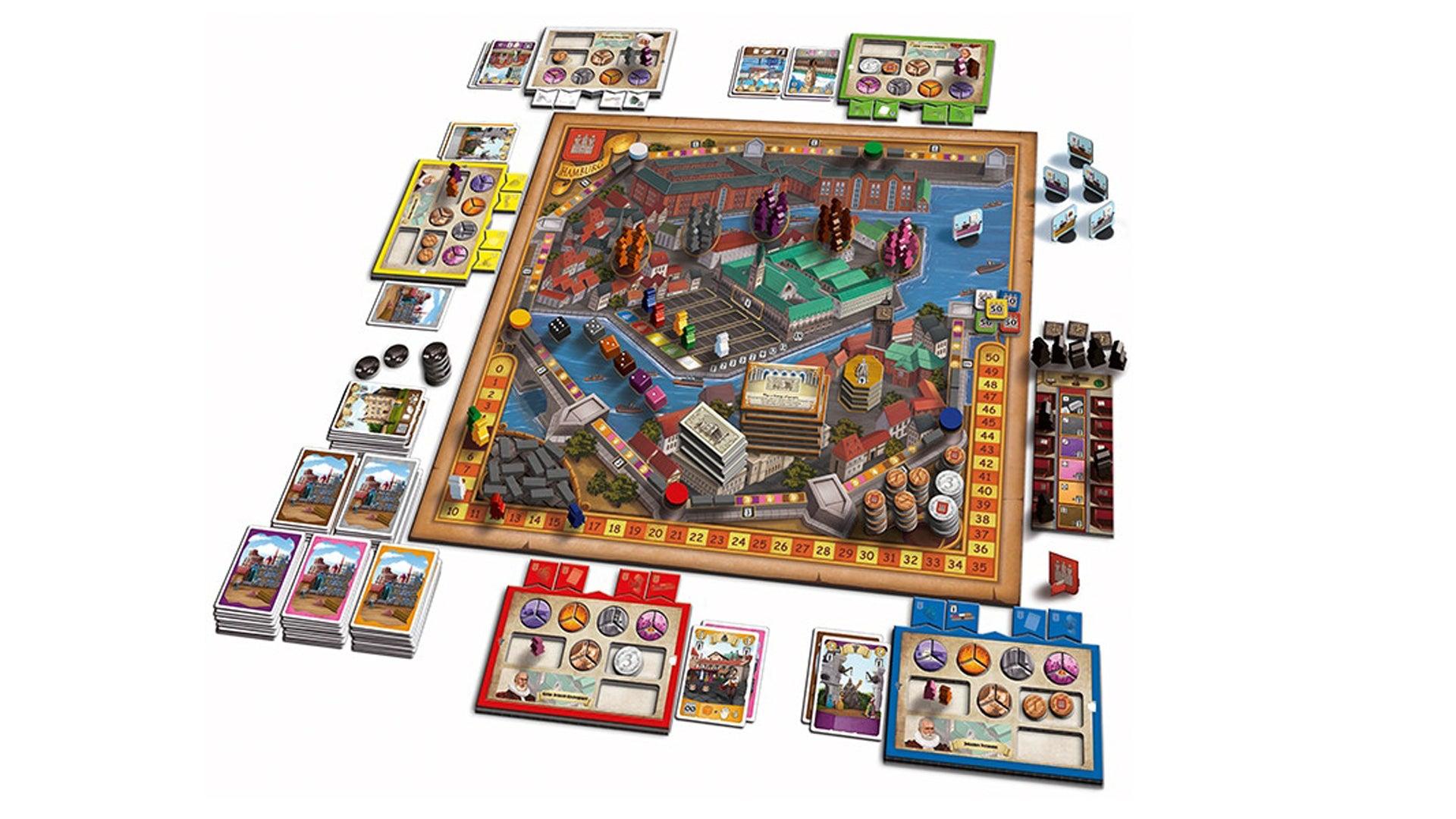 Hamburg board game layout
