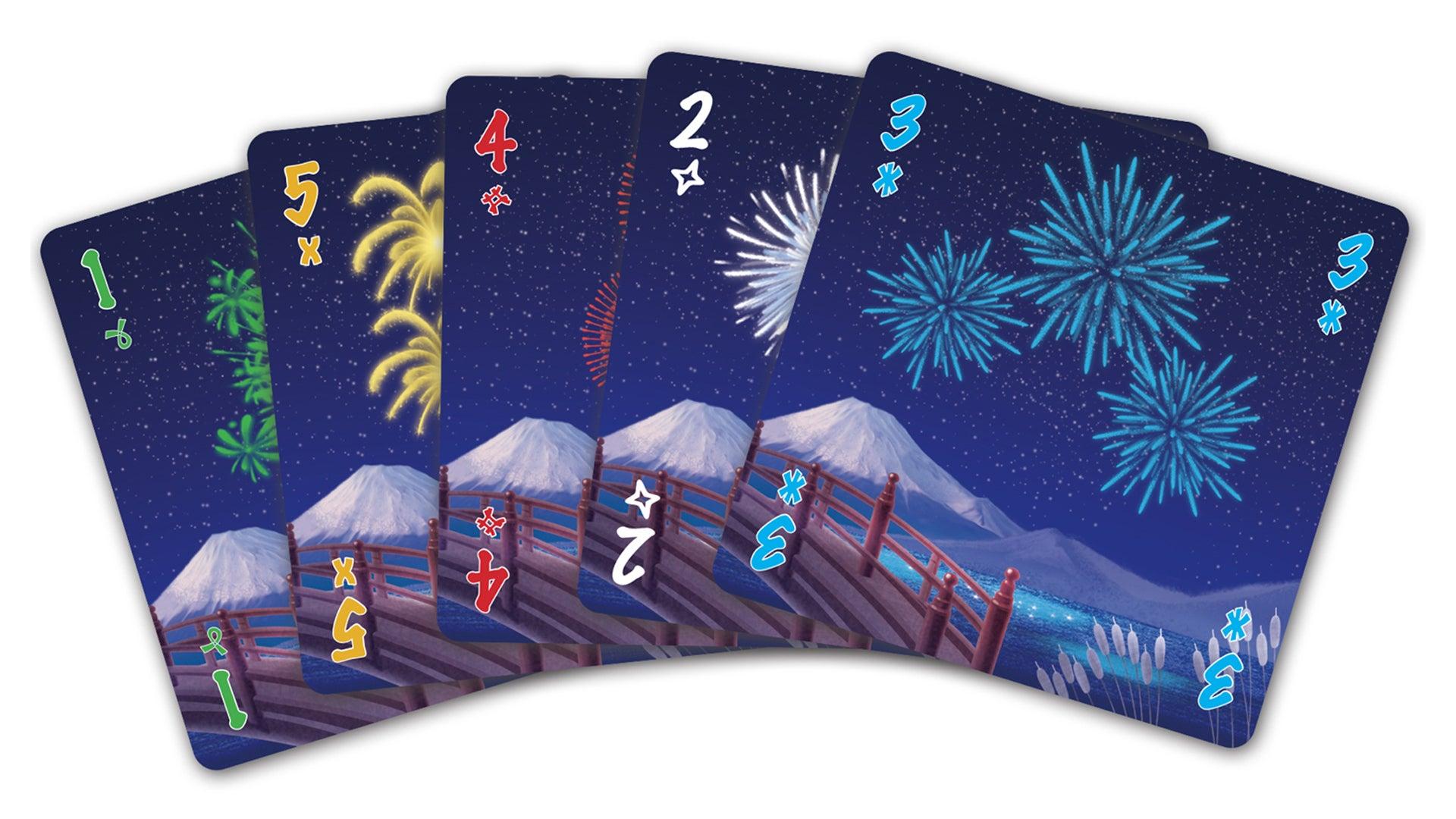 Hanabi family board game cards