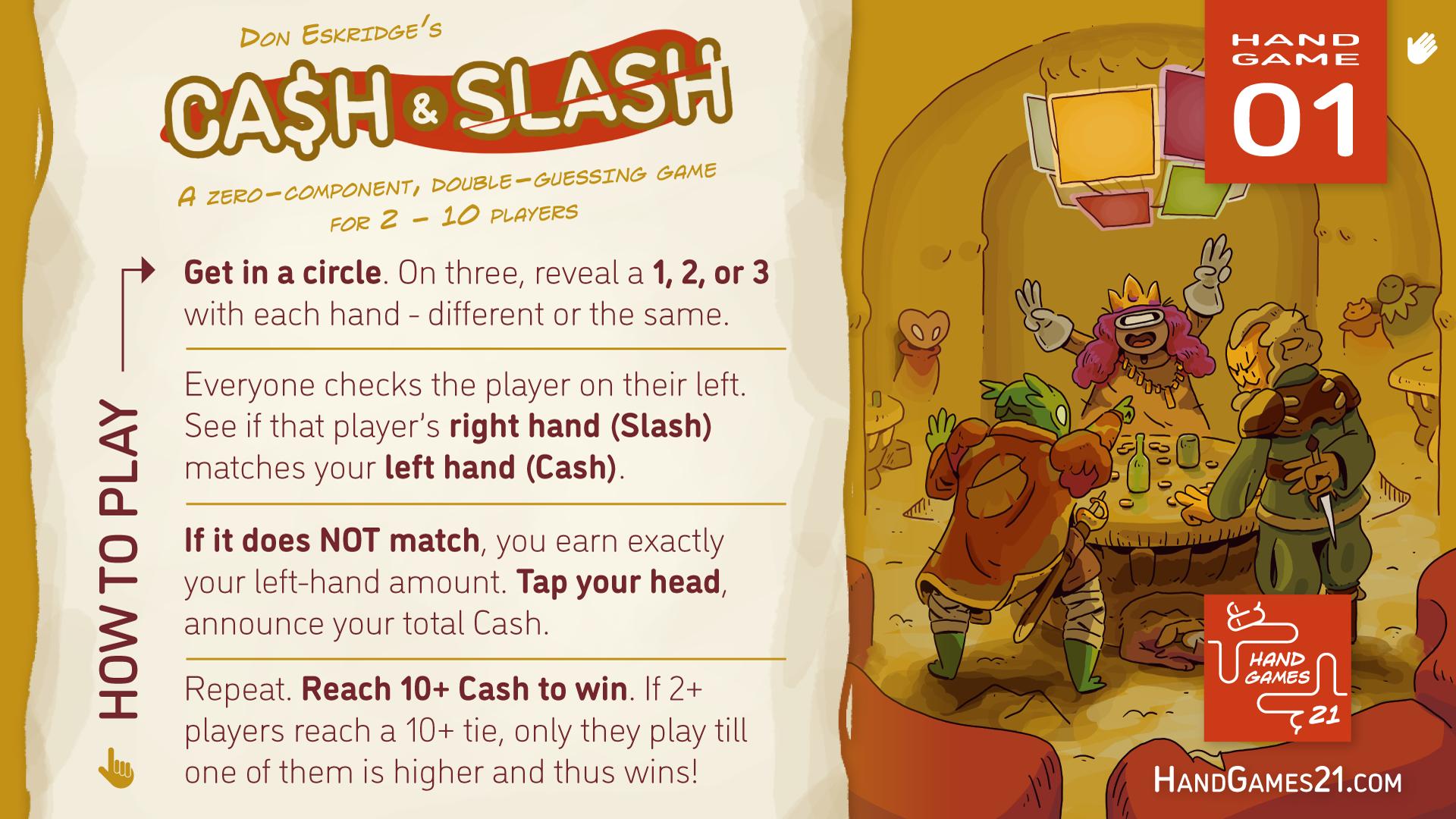 Hand Games 21 Cash and Slash