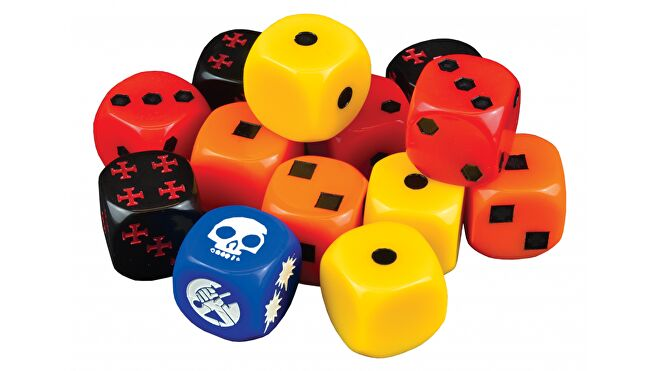 Hellboy: The Dice Game dice