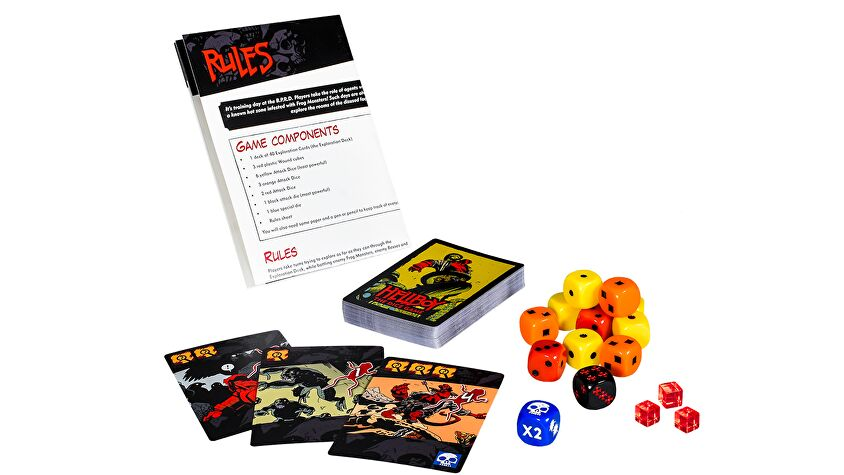 Hellboy: The Dice Game layout