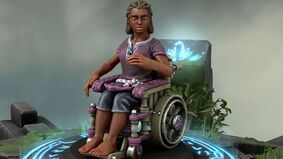 Hero Forge wheelchair user miniature screenshot