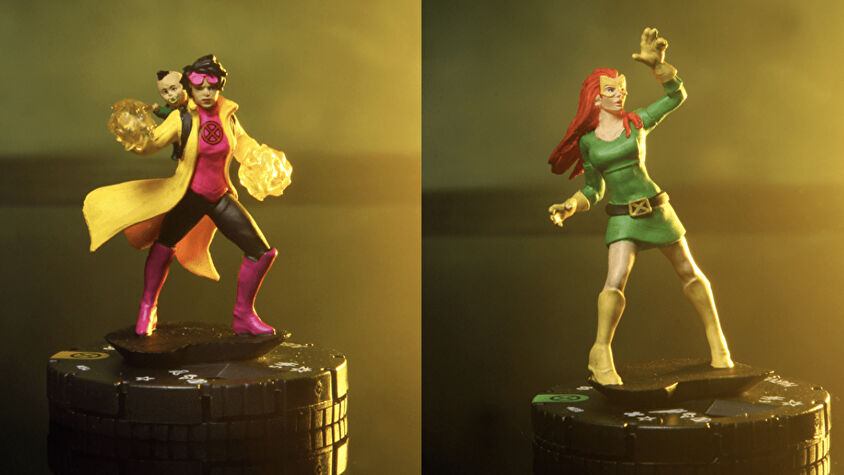 Heroclix House of X miniatures Jean Grey and Jubilee