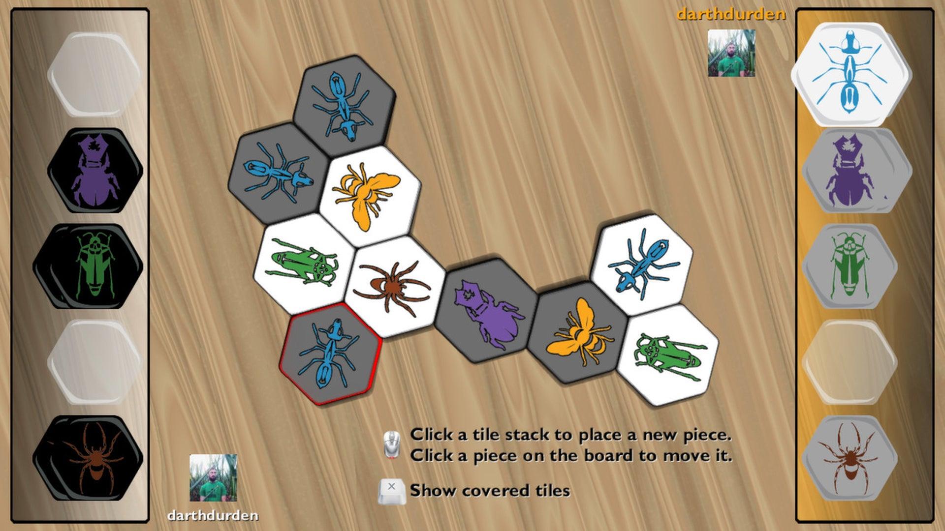 Hive digital board game screenshot