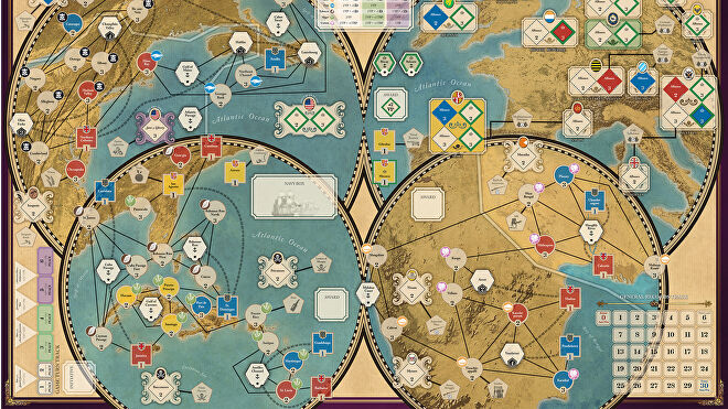 Imperial Struggle board game map