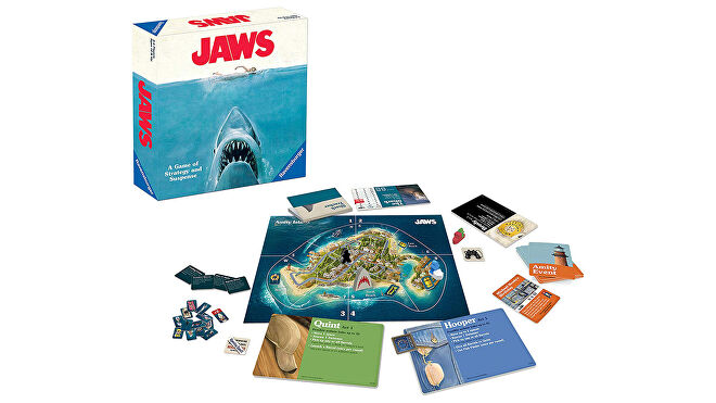 Jaws movie board game box and components