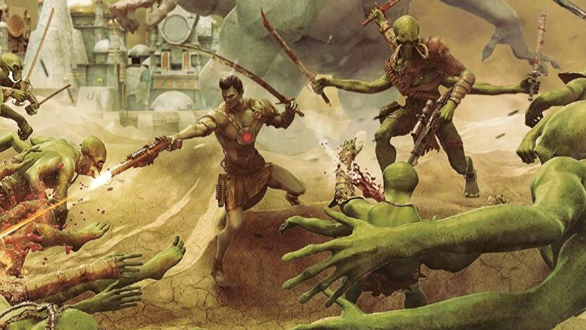 John Carter of Mars Core Rulebook artwork