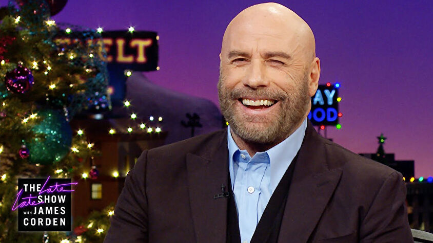 John Travolta on The Late Late Show