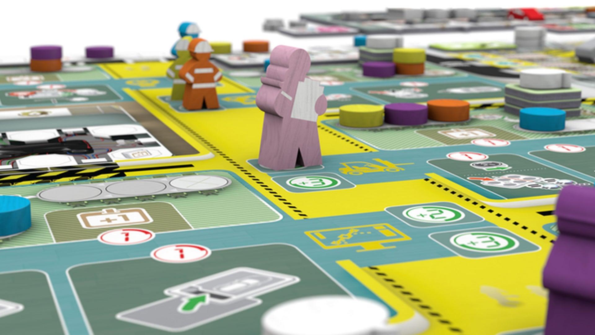 Kanban EV board game layout