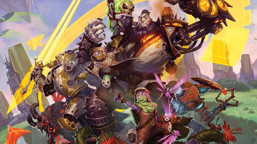 Keyforge trading card game artwork