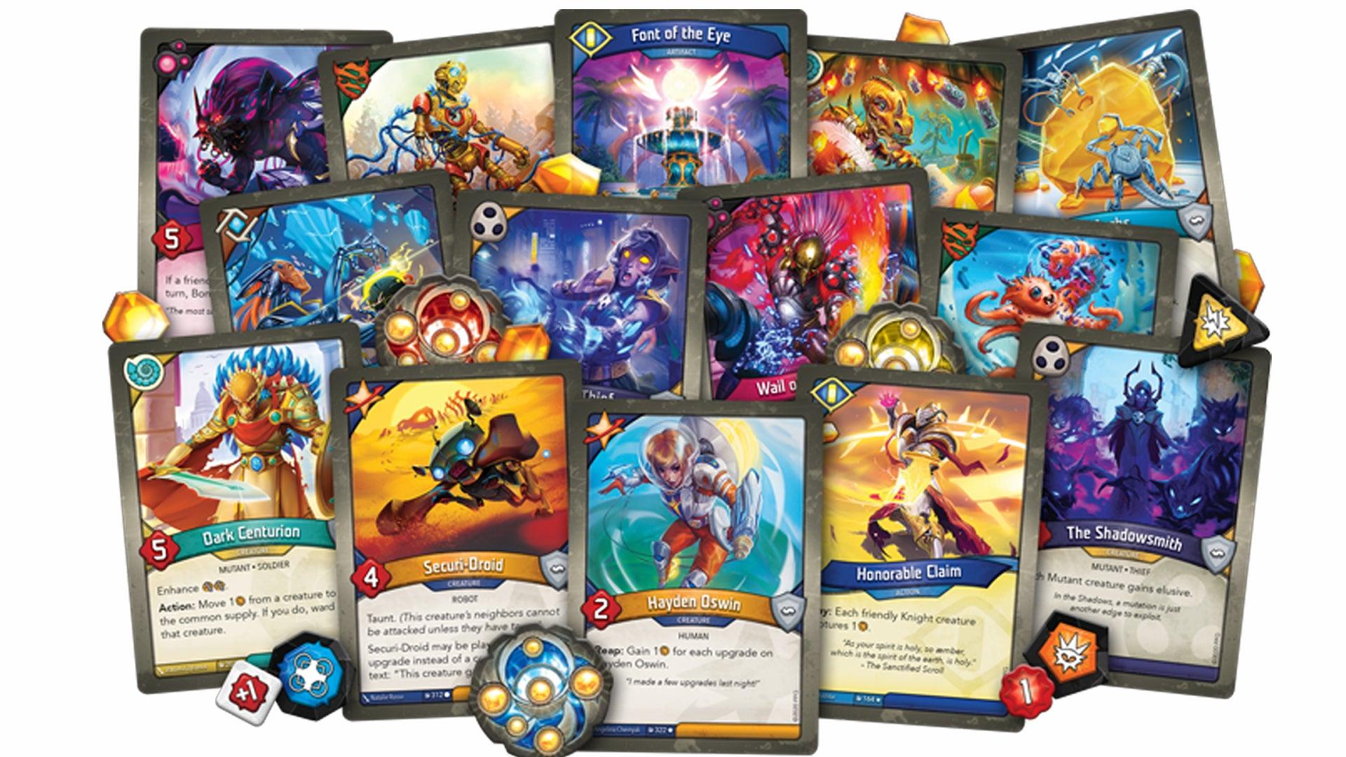 Keyforge Mass Mutation trading card game card fan 2
