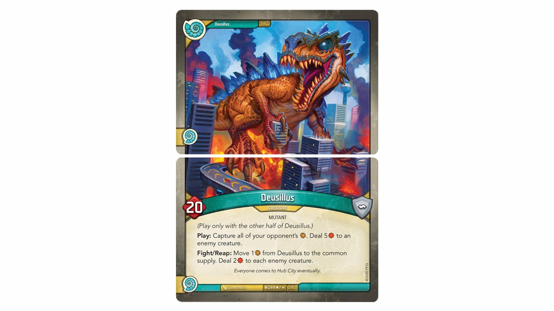 Keyforge Mass Mutation trading card game gigantic creature cards