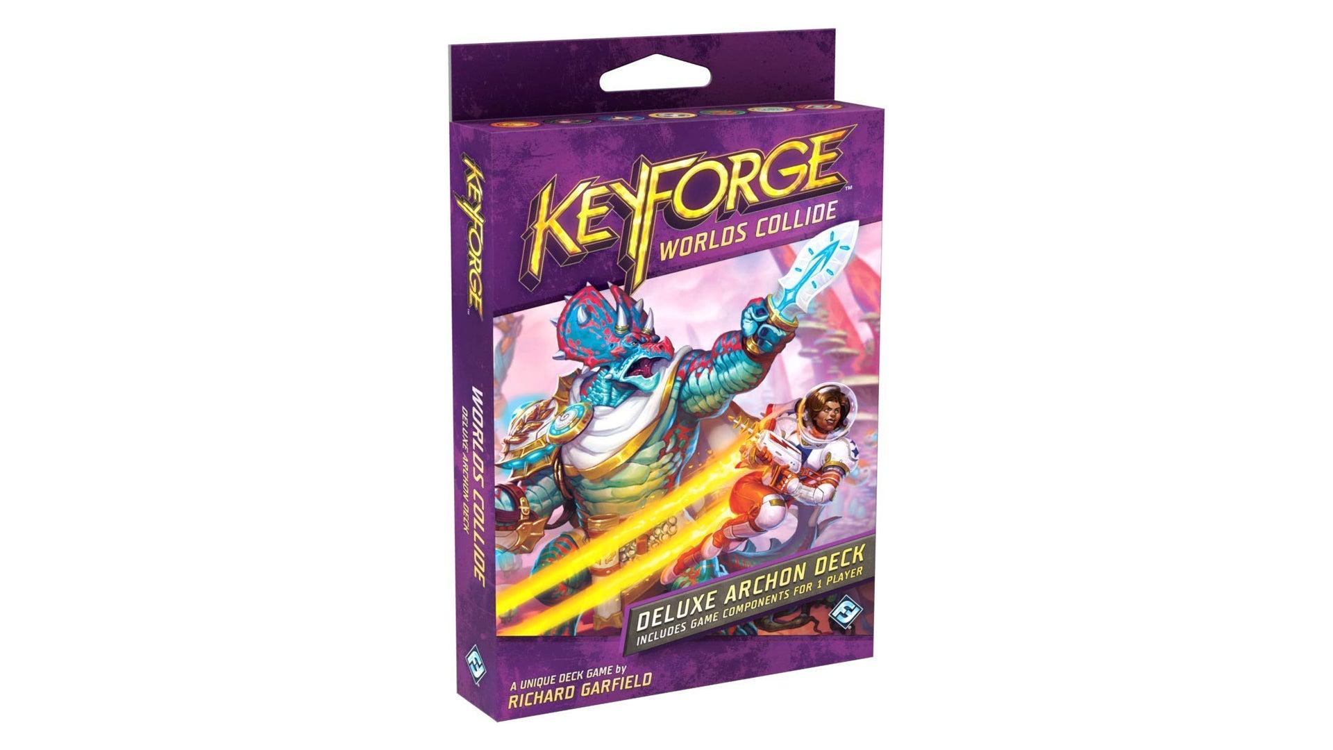 Keyforge: Worlds Collide card game archon deck