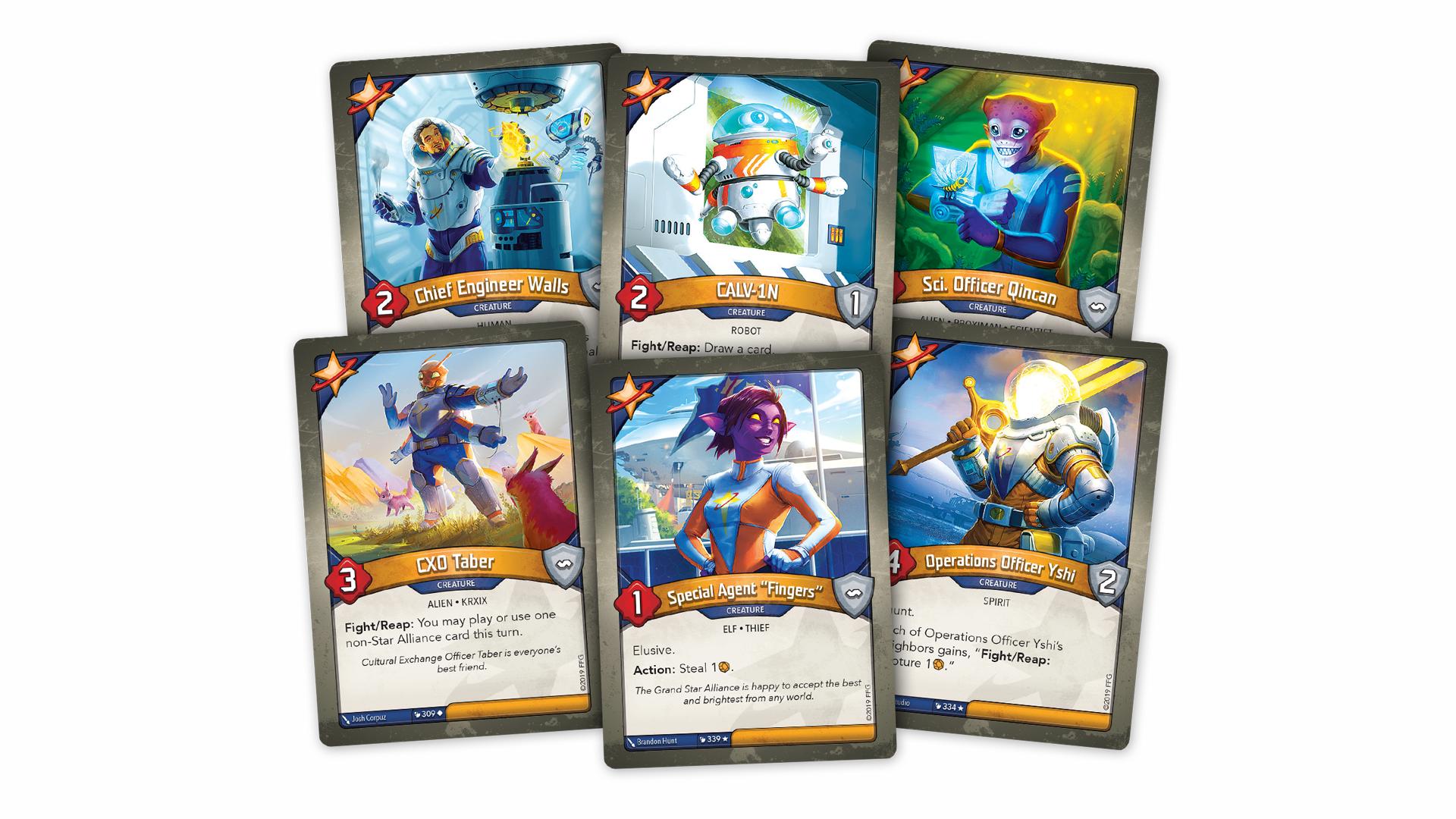 Keyforge trading card game Star Alliance