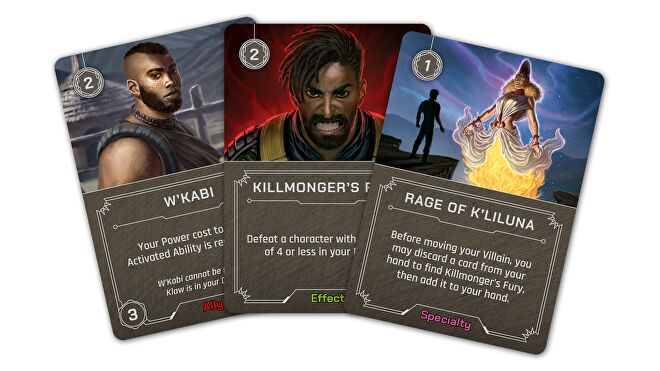 Kilmonger Marvel Villainous board game cards 2