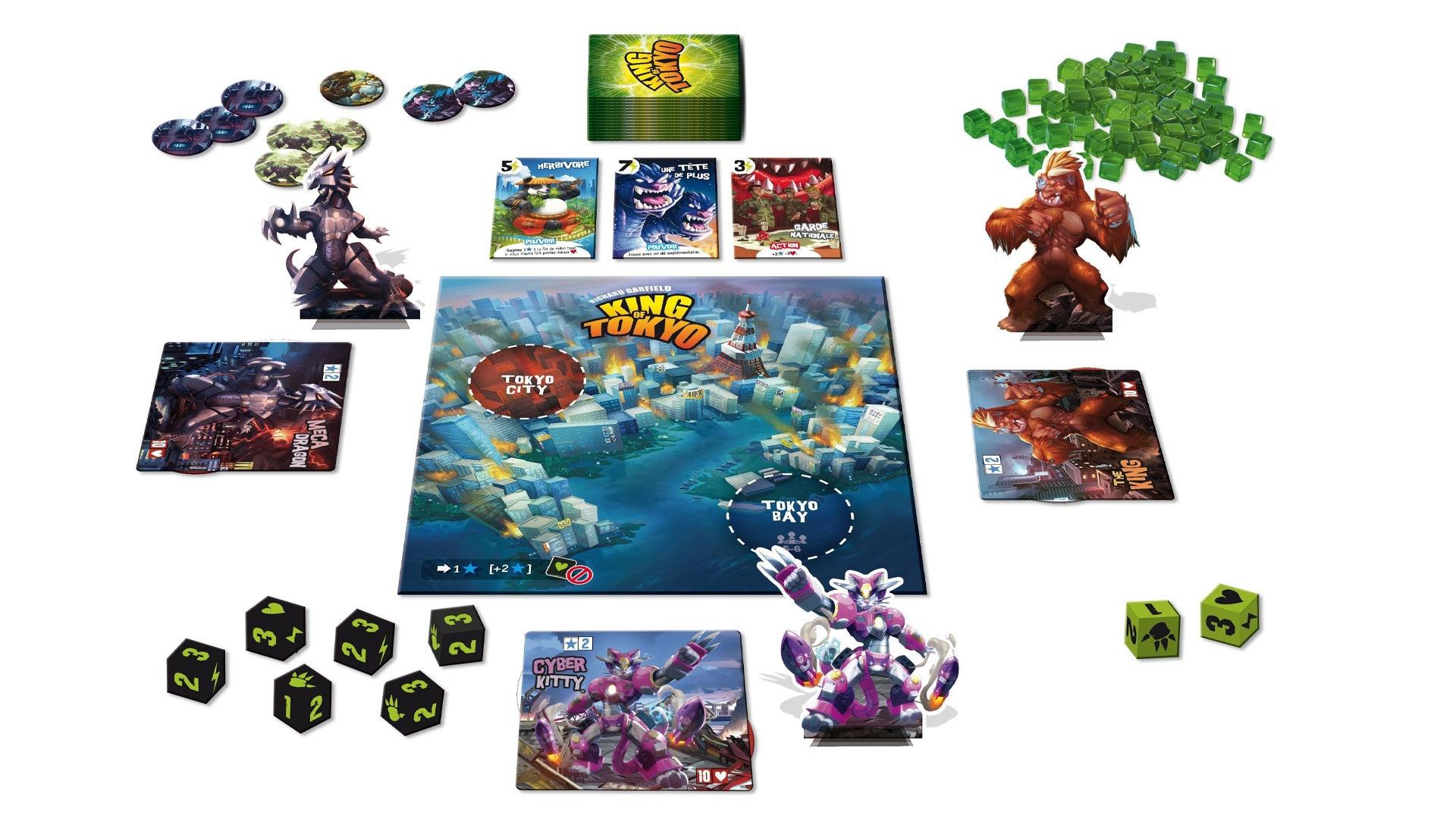 King of Tokyo beginner board game gameplay layout