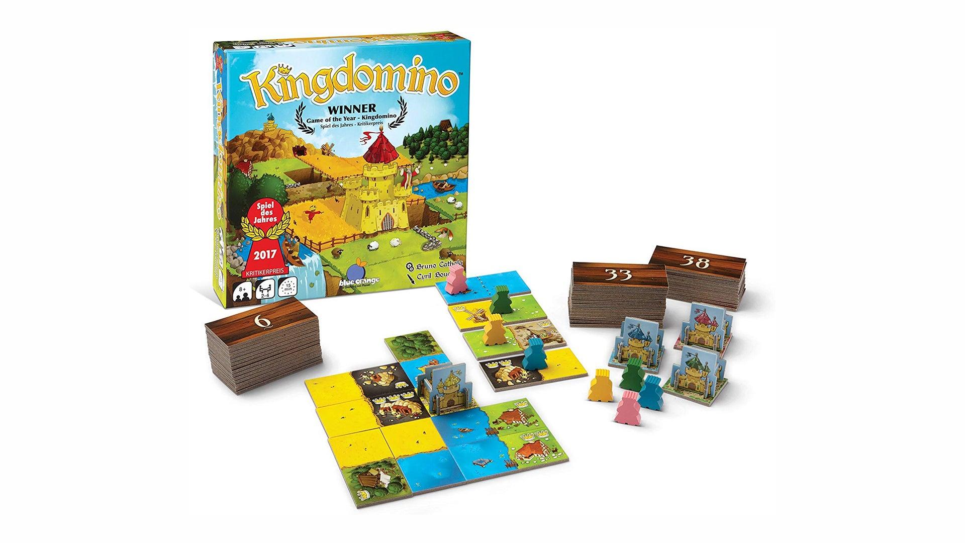 Kingdomino board game layout