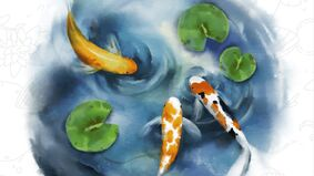 Image for Tile-placement board game Koi Garden wants to help players relax and unwind.