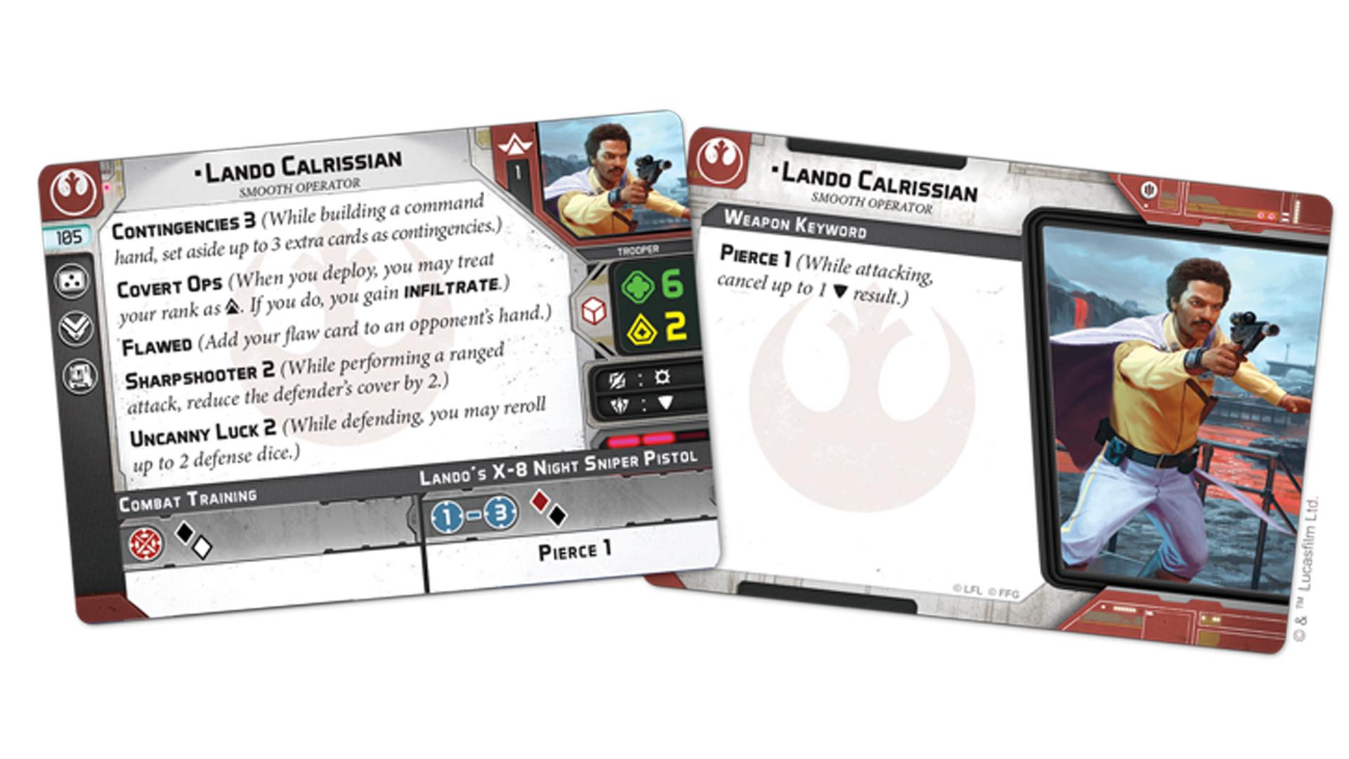 Lando Calrissian Star Wars: Legion cards