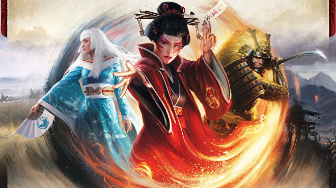 Legend of The Five Rings: The Card Game living card game artwork