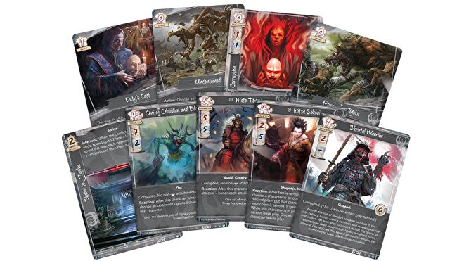 Legend of the Five Rings: The Card Game - Under Fu Lengs Shadow cards