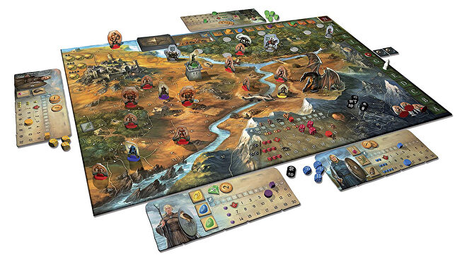 Legends of Andor board game layout
