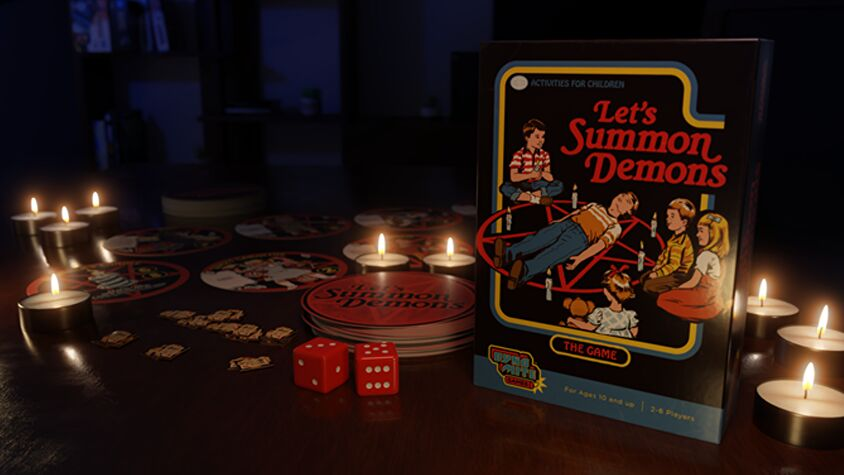 Let's Summon Demons board game promo