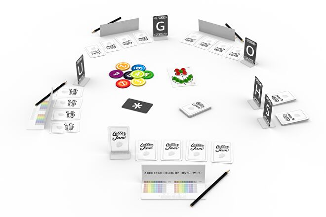 Letter Jam board game gameplay layout