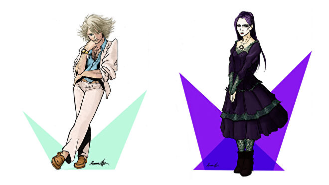 Lighthearted RPG artwork characters 2