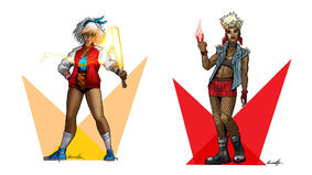 Lighthearted RPG artwork characters