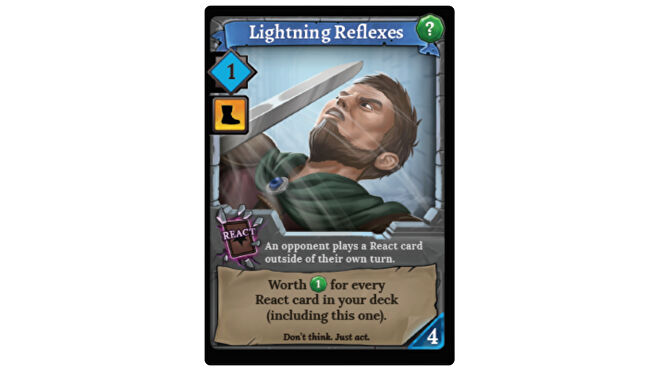 Lightning Reflexes card Clank: Adventuring Party board game