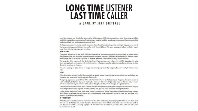 Long Time Listener and Last Time Caller