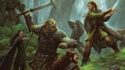 Lord of the Rings: Journeys in Middle-Earth board game artwork