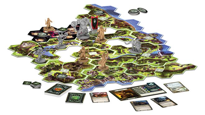 Lord of the Rings: Journeys in Middle-earth board game gameplay
