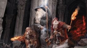 Lord of the Rings: Journeys in Middle-Earth - Shadowed Paths board game artwork
