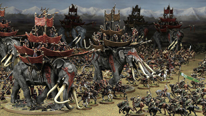 The Lord of the Rings: Middle-Earth Strategy Battle Game movie board game battle scene