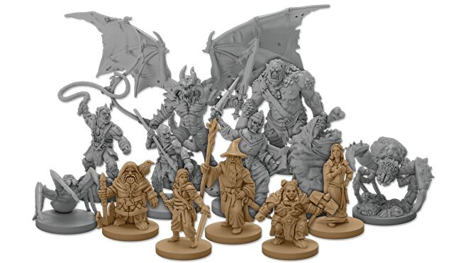 Lord of the Rings: Journeys in Middle-Earth - Shadowed Paths board game miniatures