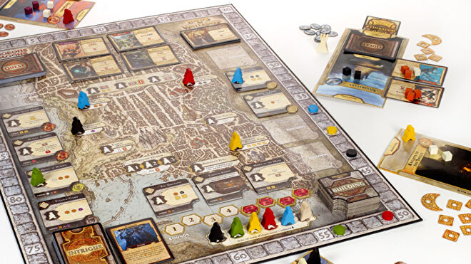 Lords of Waterdeep board game layout