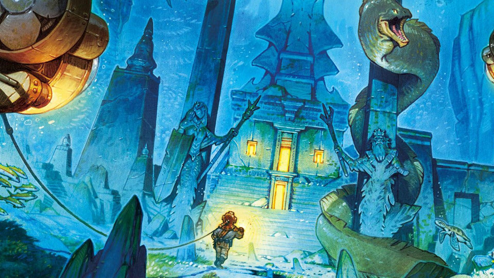 Lost Atlantis board game artwork 2