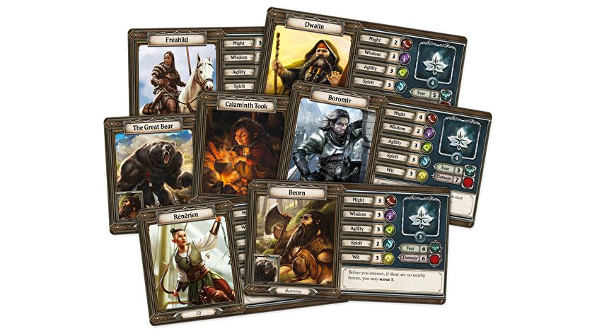 Lord of the Rings: Journey in Middle-earth - Spreading War character cards