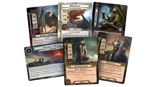 Lord of the Rings: The Card Game Frodo & co. cards