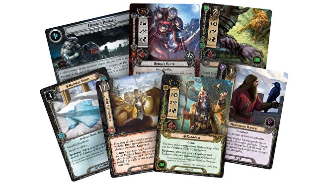 Lord of the Rings: The Card Game Radaghast and co. cards