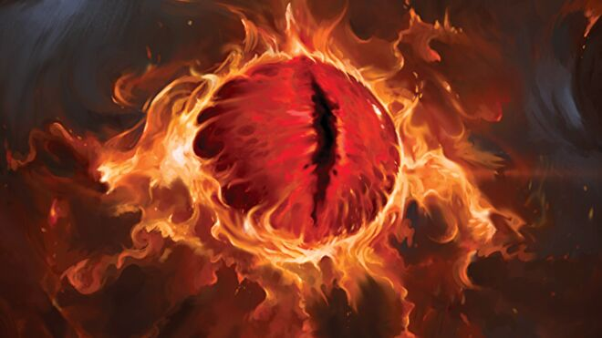 Lord of the Rings: The Card Game Sauron artwork
