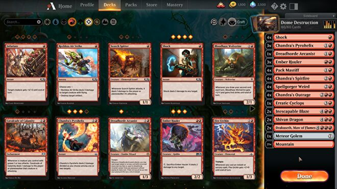 Magic: The Gathering Arena app on PC