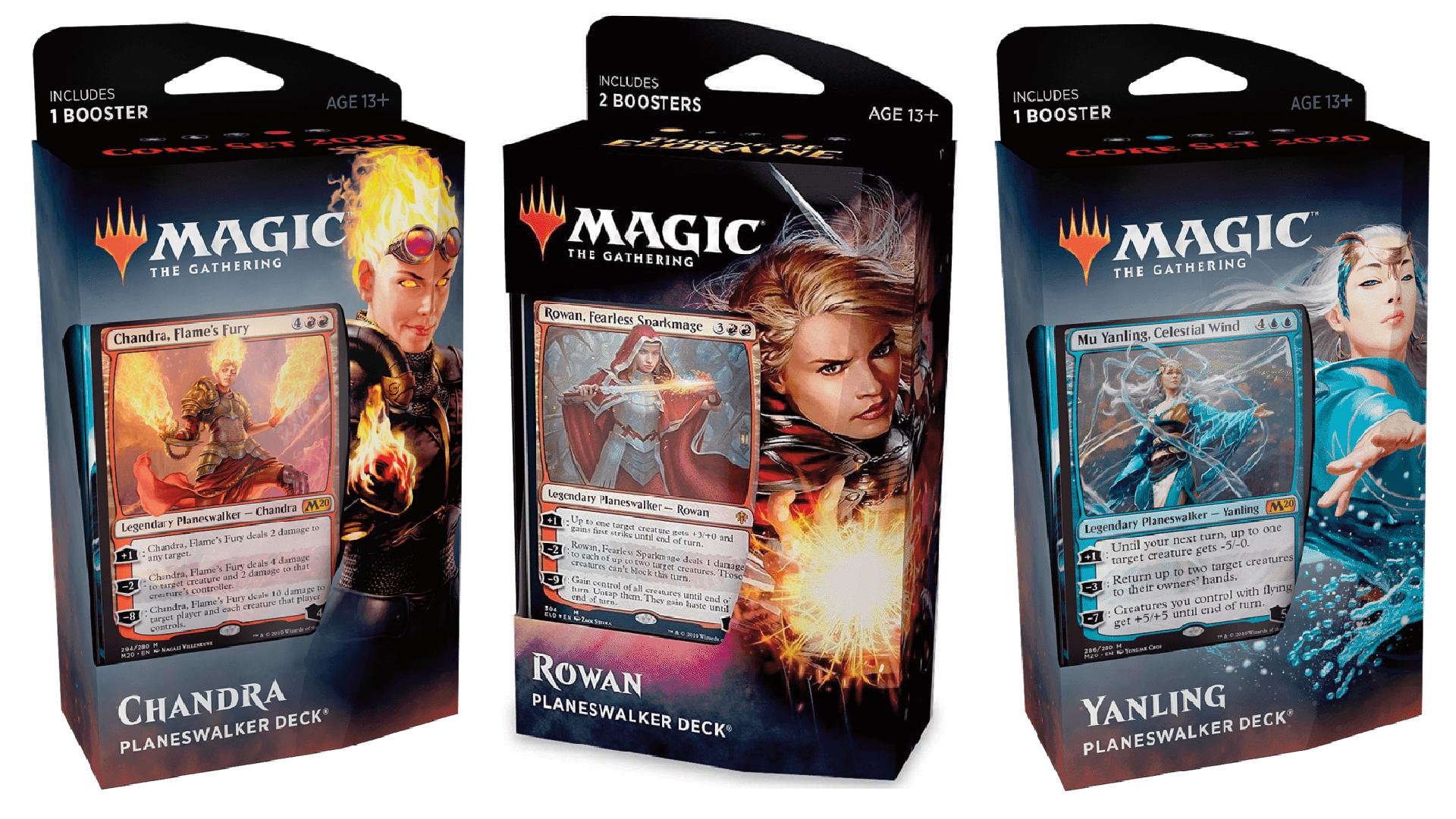Magic: The Gathering trading card game planeswalker decks