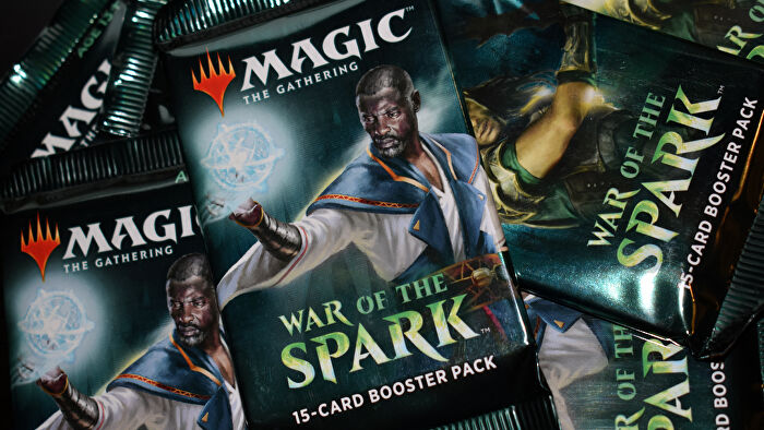 Magic: The Gathering trading card game booster packs