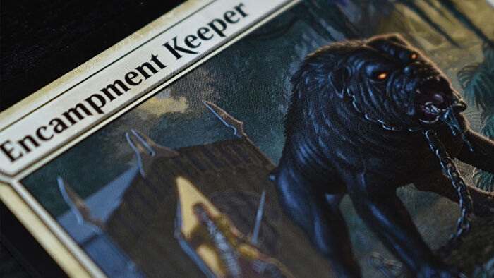 Magic: The Gathering trading card game Encampment Keeper creature card